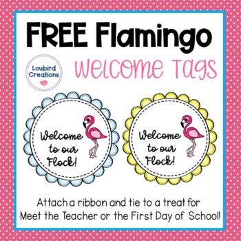 Flamingo Welcome Tags