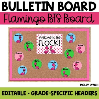 "Flamingo ""Welcome to the Flock"" {Editable Back to School Display}"