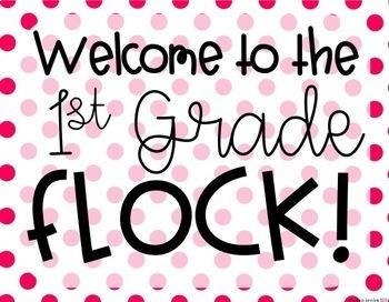 "Flamingo ""Welcome to the Flock"" {Editable Back to School Display}"