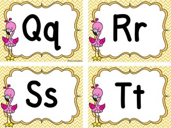 Flamingo Word Wall Letters Dollar Deal