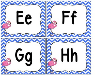 Flamingo Word Wall Letters