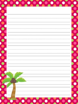 Flamingo Writing Paper - 3 Designs - ( 7 1/2x10 )