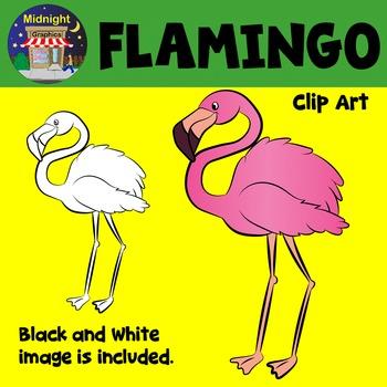 Flamingo Zoo Animals Clip Art