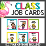 Flamingo and Pineapple Themed Student Job Cards
