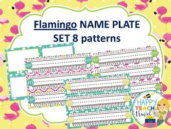 Flamingo class decor desk name plates