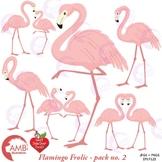 Flamingo clipart, Pink flamingo Family Clipart, {Best Teacher Tools} AMB-1038