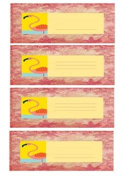 Flamingo labels