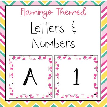 Flamingo letters and numbers for bulletin board, calendars, & class management