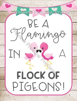 Flamingo posters, flamingo quote posters, motivational posters, flamingo decor