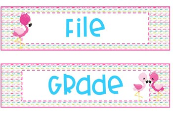 Flamingos 3 Drawer Organizer Labels