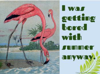 Flamingos Bored with Summer Teacher eCard