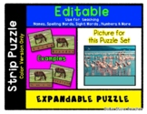 Flamingos - Expandable & Editable Strip Puzzle with Multip