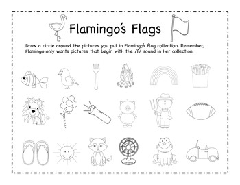Flamingo's Flags - Letter F Beginning Sound Sort