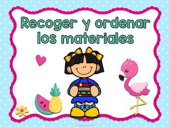 Flamingos - Reglas del salón (Spanish Classroom Rules)