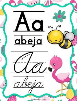 Flamingos Spanish ABC - Abecedario