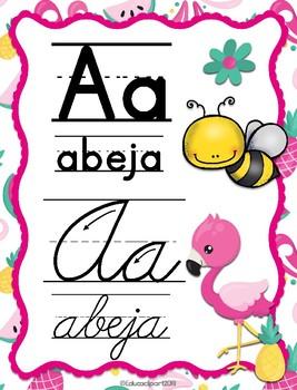 Flamingos Spanish ABC II - Abecedario