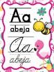 Flamingos Spanish Calendar set and ABC