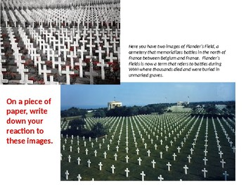 Flanders Field/All Quiet on the Western Front Comparison