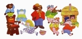 Flannel Board Story Kits - Goldilocks and The Three Little Pigs