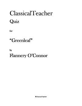 """Flannery O'Connor Quiz: """"Greenleaf"""""""