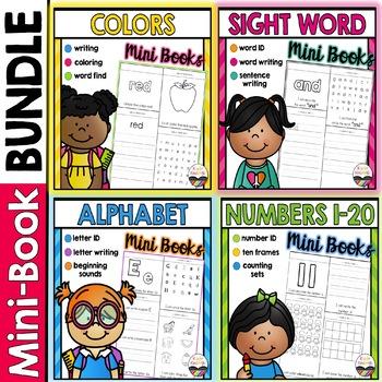 Mini-Book BUNDLE: Alphabet, Numbers, Colors, & Sight Words