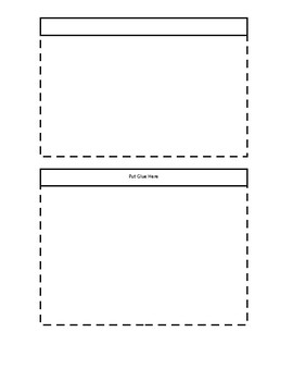 Flap Book Foldable Template