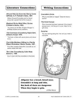Flap Book - The Crocodile