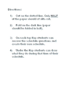 Flap book Daily Schedule