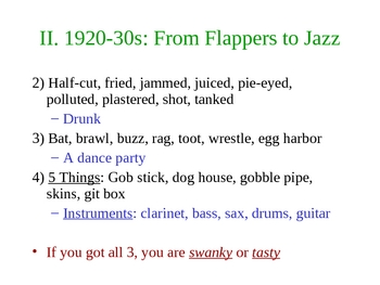 Flappers to Rappers - A Lesson about Slang