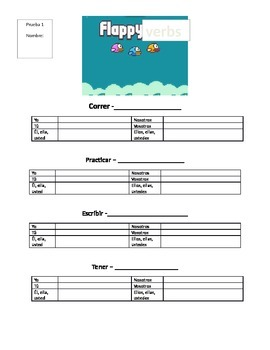 Flappy Verbs (Spanish conjugation quizzes)
