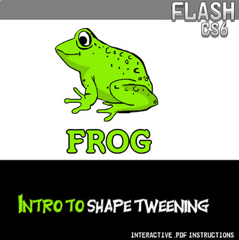 Flash CS6 Lesson - Intro to Shape Tweening