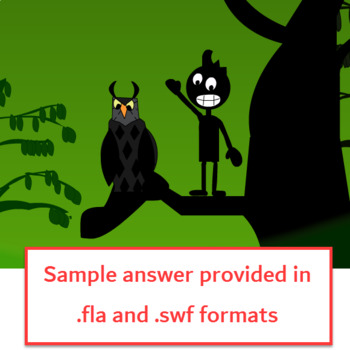 Flash CS6 Lesson - Owl and boy flying nested animation!