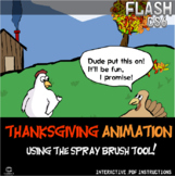 Flash CS6 Lesson - Thanksgiving Animation, mastering the Spray Brush Tool