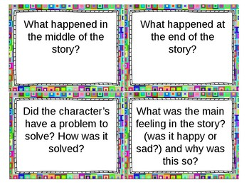 Flash Card Comprehension Questions