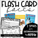 Flash Card Facts! Writing Center Activity Cards for ANY flash cards!