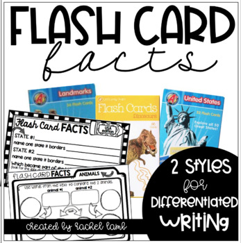 Flash Card Facts! A Common Core writing center activity wi
