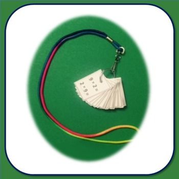 Flash Card Necklace - multiplication