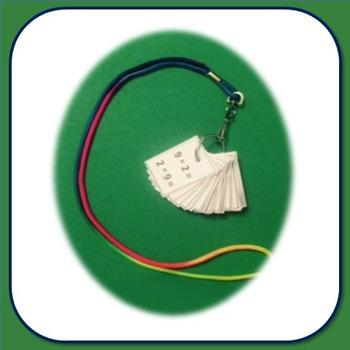 Flash Card Necklace - multiplication