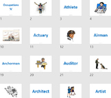 Flash Card - Occupations with A to Z listing (484 cards im