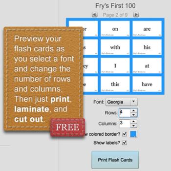 Flash Card Printer Software - FREE