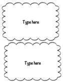Flash Card Template (2 cards per page)