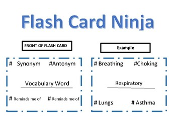 Flash Card Ninja