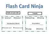 Flash Card Ninja