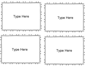 Flash Card Template (4 cards per page)