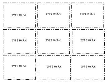 Flash Card Template (9 Cards Per Page)
