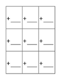 Flash Card Template for Addition,Subtraction,Division and Multiplication