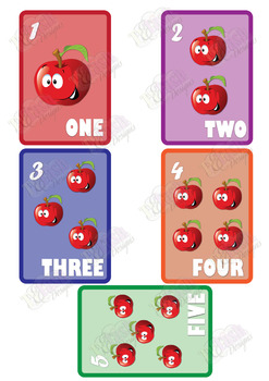 Flash Cards 1-10 Apple images