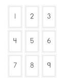 Number Flash Cards 1-100