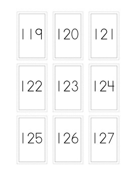 Number Flash Cards 101-200
