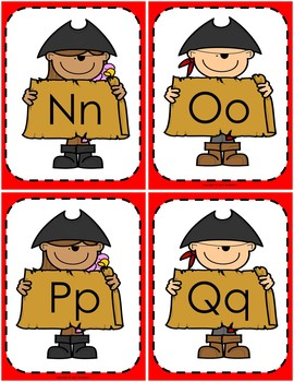 Flash Cards - 4 Complete Sets - Pirate Theme